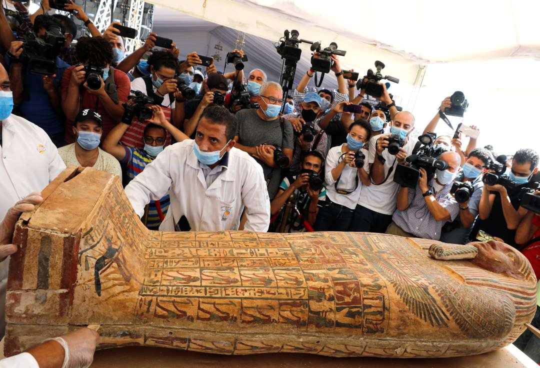 MOHAMED ABD EL GHANY, newly discovered burial site near Egypt's Saqqara necropolis in Giza. Courtsey, Reuters.